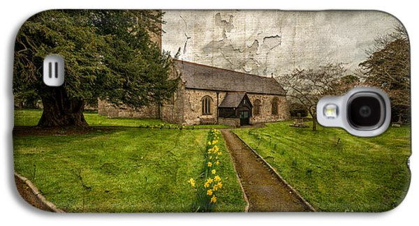 Walkway Digital Art Galaxy S4 Cases - Church Path Galaxy S4 Case by Adrian Evans