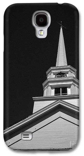 Jesus Christ Icon Galaxy S4 Cases - Church Steeple Stowe Vermont Galaxy S4 Case by Edward Fielding