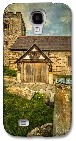 Walkway Digital Art Galaxy S4 Cases - Church Sundial 1806 Galaxy S4 Case by Adrian Evans