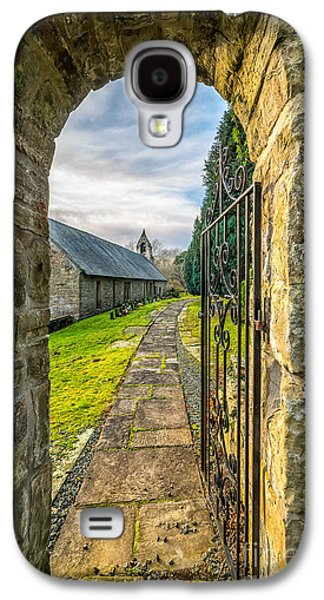 Walkway Digital Art Galaxy S4 Cases - Church Way Galaxy S4 Case by Adrian Evans