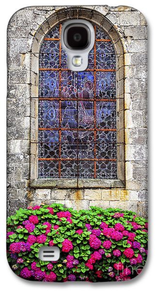 Quaint Photographs Galaxy S4 Cases - Church window in Brittany Galaxy S4 Case by Elena Elisseeva