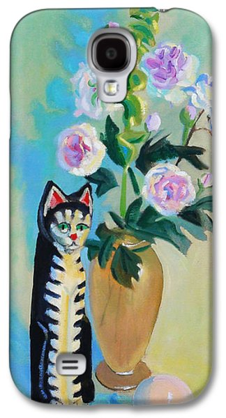 Still Life Sculptures Galaxy S4 Cases - Cicero With Flowers Galaxy S4 Case by Dan Redmon