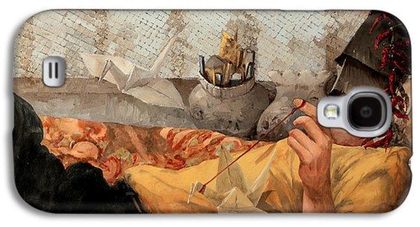 Pepper Paintings Galaxy S4 Cases - Cicogna Da Passeggio Galaxy S4 Case by Guido Borelli