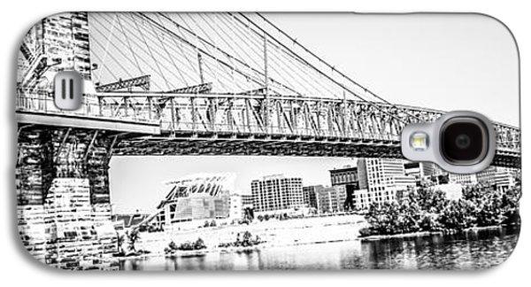 Historical Pictures Galaxy S4 Cases - Cincinnati Bridge Retro Panorama Photo Galaxy S4 Case by Paul Velgos