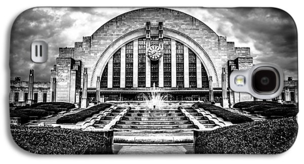 Terminal Photographs Galaxy S4 Cases - Cincinnati Museum Center Black and White Picture Galaxy S4 Case by Paul Velgos
