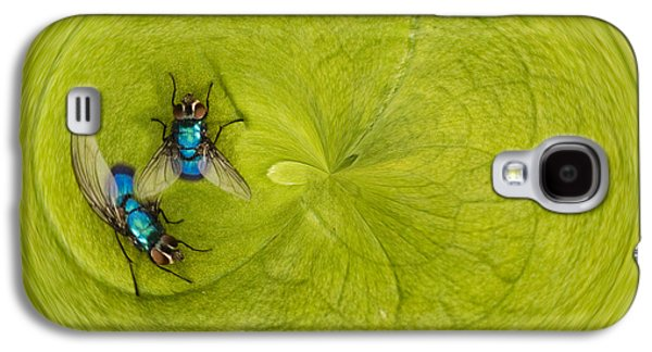 Creative Manipulation Galaxy S4 Cases - Circle of flies Galaxy S4 Case by Jean Noren