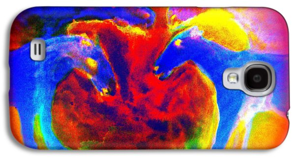 Temperament Galaxy S4 Cases - Circle of love Galaxy S4 Case by Hilde Widerberg