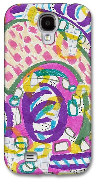 Abstract Collage Drawings Galaxy S4 Cases - Circles and Lines Galaxy S4 Case by Rosalina Bojadschijew