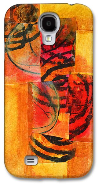 Tangerine Paintings Galaxy S4 Cases - Circles Squared Galaxy S4 Case by Nancy Merkle
