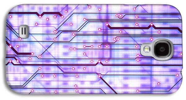 Component Photographs Galaxy S4 Cases - Circuit Trace Galaxy S4 Case by Jerry McElroy