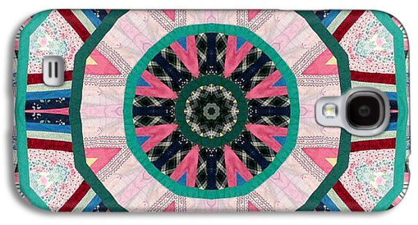 Block Quilts Tapestries - Textiles Galaxy S4 Cases - Circular Patchwork Art Galaxy S4 Case by Barbara Griffin