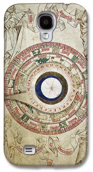 Circular Zodiacal Lunar Scheme Galaxy S4 Case by British Library