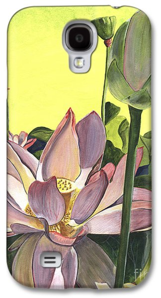 Plants Galaxy S4 Cases - Citron Lotus 2 Galaxy S4 Case by Debbie DeWitt