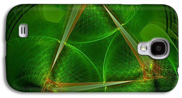 Gold Lime Green Galaxy S4 Cases - Citrus Galaxy S4 Case by Linda Whiteside