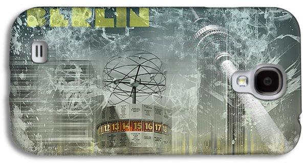 Abstract Sights Digital Galaxy S4 Cases - City-Art BERLIN Alexanderplatz  Galaxy S4 Case by Melanie Viola