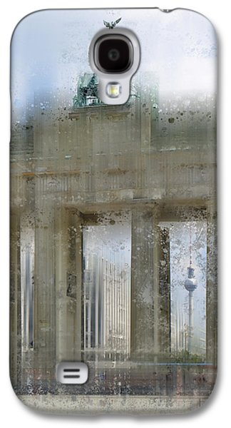 Abstract Sights Digital Galaxy S4 Cases - City-Art BERLIN Brandenburg Gate Galaxy S4 Case by Melanie Viola