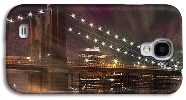 Abstract Sights Digital Galaxy S4 Cases - City-Art BROOKLYN BRIDGE Galaxy S4 Case by Melanie Viola
