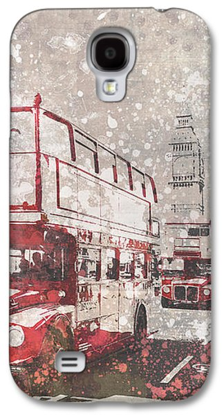 City-art London Red Buses II Galaxy S4 Case by Melanie Viola