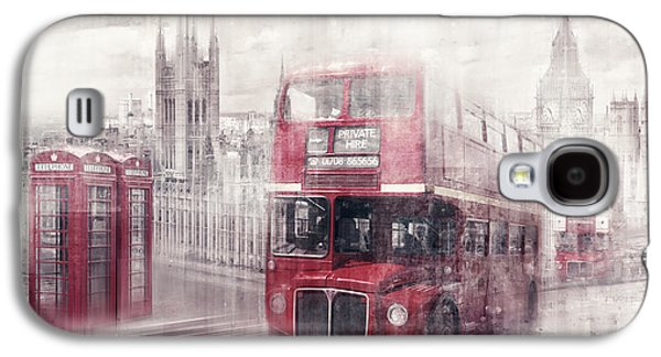 Capital Galaxy S4 Cases - City-Art LONDON Westminster Collage II Galaxy S4 Case by Melanie Viola