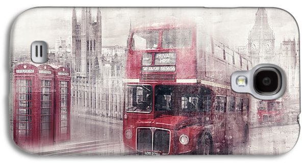 Boxes Galaxy S4 Cases - City-Art LONDON Westminster Collage II Galaxy S4 Case by Melanie Viola