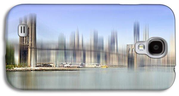 Abstract Digital Galaxy S4 Cases - City-Art MANHATTAN SKYLINE I Galaxy S4 Case by Melanie Viola