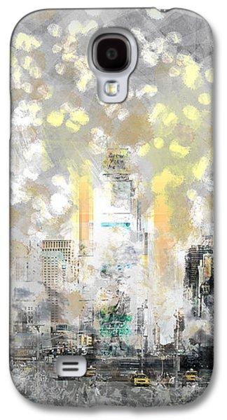 Abstract Sights Digital Galaxy S4 Cases - City-Art MANHATTAN Sunflower Galaxy S4 Case by Melanie Viola