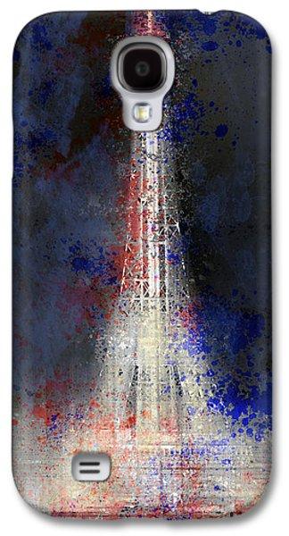 Abstract Digital Digital Art Galaxy S4 Cases - City-Art PARIS Eiffel Tower in National Colours Galaxy S4 Case by Melanie Viola