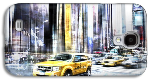 Times Square Digital Art Galaxy S4 Cases - City-Art TIMES SQUARE II Galaxy S4 Case by Melanie Viola