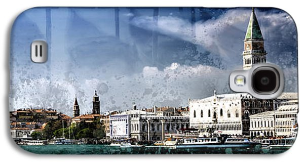 Abstract Digital Galaxy S4 Cases - City-Art VENICE Panoramic Galaxy S4 Case by Melanie Viola