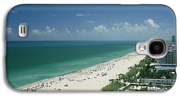 Built Structure Galaxy S4 Cases - City At The Beachfront, South Beach Galaxy S4 Case by Panoramic Images