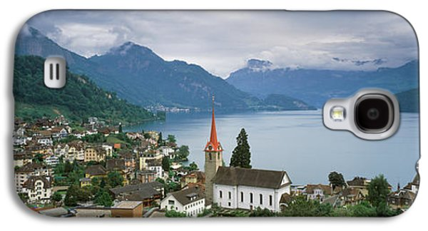 Lucerne Galaxy S4 Cases - City At The Lakeside, Lake Lucerne Galaxy S4 Case by Panoramic Images
