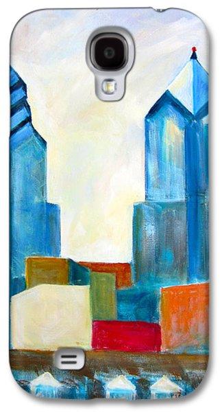 Phillies Paintings Galaxy S4 Cases - City Blocks Galaxy S4 Case by Marita McVeigh