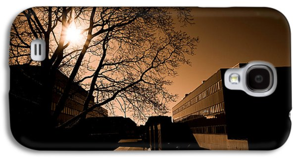 Sunset Abstract Mixed Media Galaxy S4 Cases - City buildings Galaxy S4 Case by Toppart Sweden