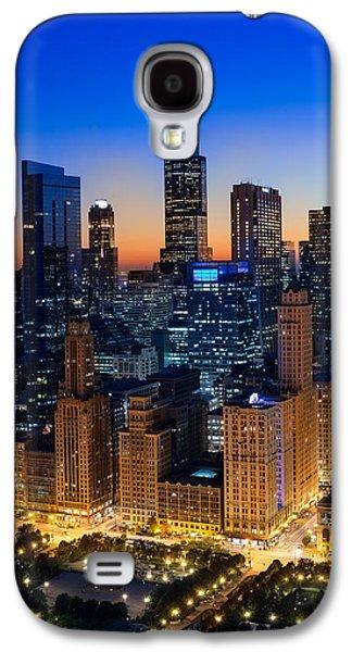 Willis Tower Galaxy S4 Cases - City Light Chicago Galaxy S4 Case by Steve Gadomski