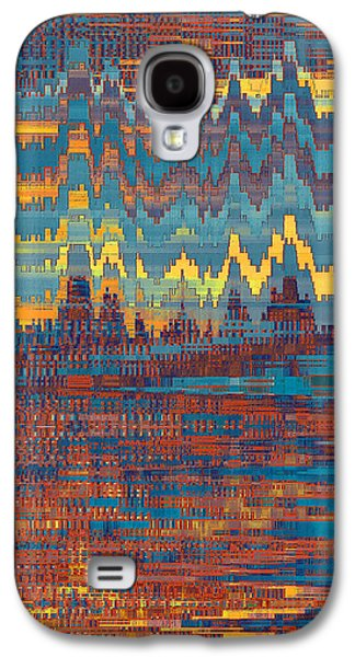 Sunset Abstract Galaxy S4 Cases - City Lights Galaxy S4 Case by Ben and Raisa Gertsberg