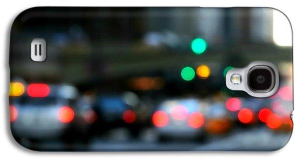 Manhattan Street Galaxy S4 Cases - City Lights Galaxy S4 Case by Diana Angstadt