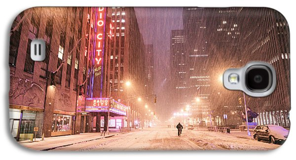 Winter Night Galaxy S4 Cases - City Night in the Snow - New York City Galaxy S4 Case by Vivienne Gucwa