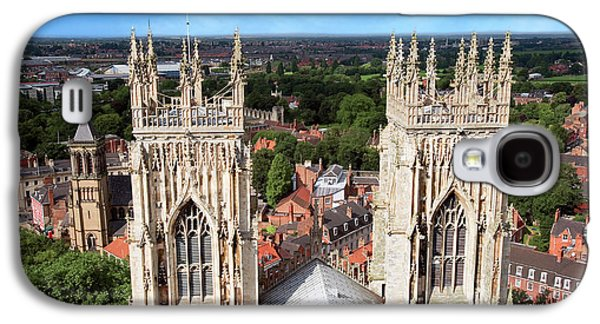 City Of York, York Minster, Cathedral Galaxy S4 Case by Miva Stock