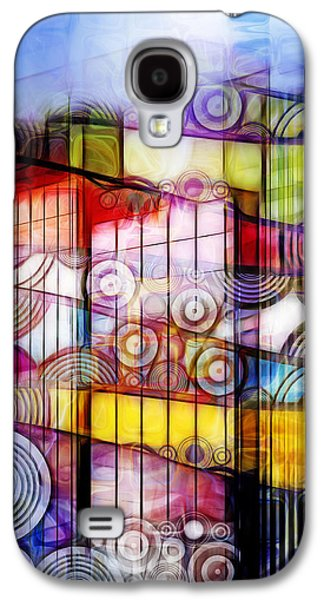 Abstract Digital Mixed Media Galaxy S4 Cases - City Patterns 1 Galaxy S4 Case by Lutz Baar