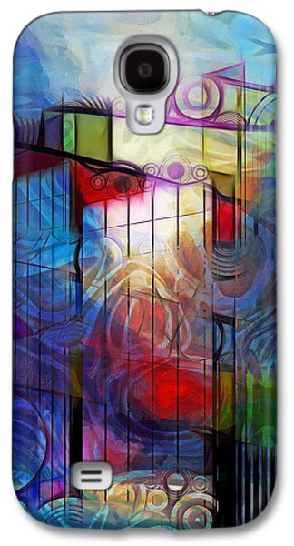 Abstract Digital Mixed Media Galaxy S4 Cases - City Patterns 2 Galaxy S4 Case by Lutz Baar