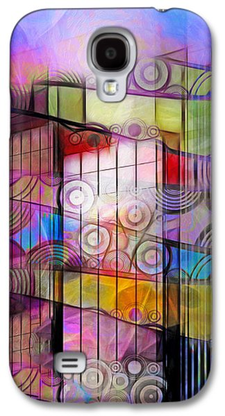 Abstract Digital Mixed Media Galaxy S4 Cases - City Patterns 3 Galaxy S4 Case by Lutz Baar