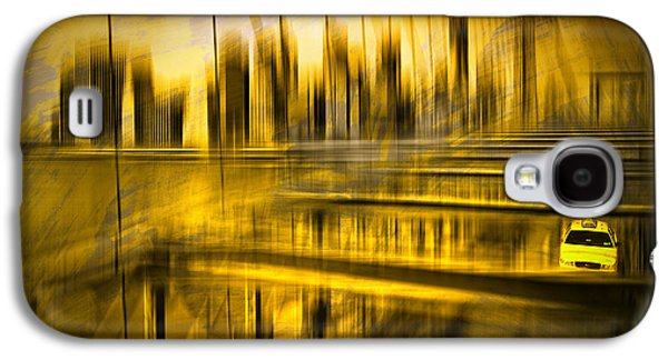 Abstract Sights Digital Galaxy S4 Cases - City-Shapes NYC Galaxy S4 Case by Melanie Viola
