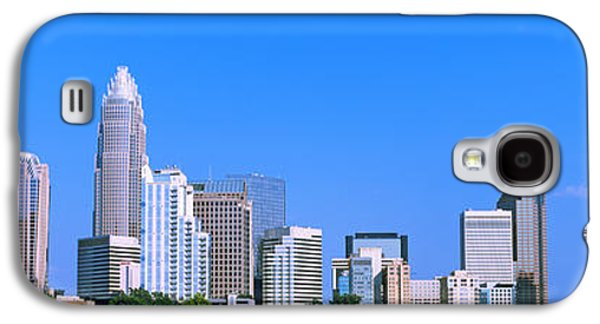 Charlotte Photographs Galaxy S4 Cases - City Skyline, Charlotte, Mecklenburg Galaxy S4 Case by Panoramic Images