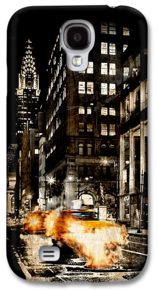 Smoke Digital Galaxy S4 Cases - City Streets  Galaxy S4 Case by Az Jackson