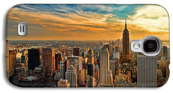 Sun Photographs Galaxy S4 Cases - City Sunset New York City USA Galaxy S4 Case by Sabine Jacobs