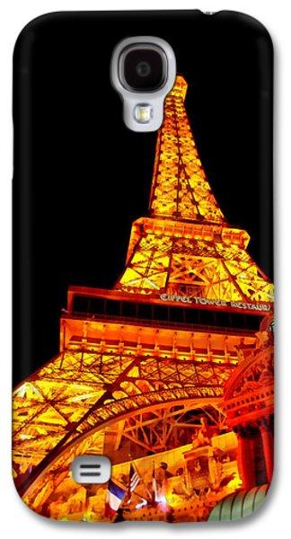 Suburban Digital Art Galaxy S4 Cases - City - Vegas - Paris - Eiffel Tower Restaurant Galaxy S4 Case by Mike Savad