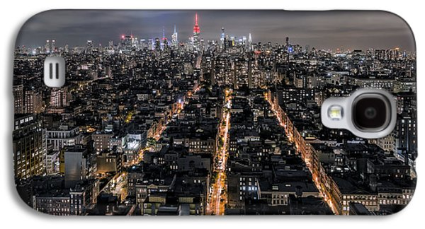Long Street Digital Art Galaxy S4 Cases - City veins Galaxy S4 Case by Eduard Moldoveanu