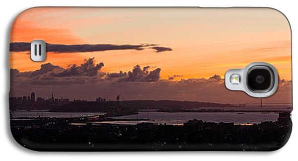 Alcatraz Galaxy S4 Cases - City View At Dusk, Emeryville, Oakland Galaxy S4 Case by Panoramic Images