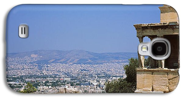 Greek Sculpture Galaxy S4 Cases - City Viewed From A Temple, Erechtheion Galaxy S4 Case by Panoramic Images
