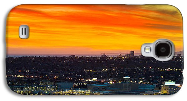 Studio Photography Galaxy S4 Cases - Cityscape At Dusk, Sony Studios, Culver Galaxy S4 Case by Panoramic Images